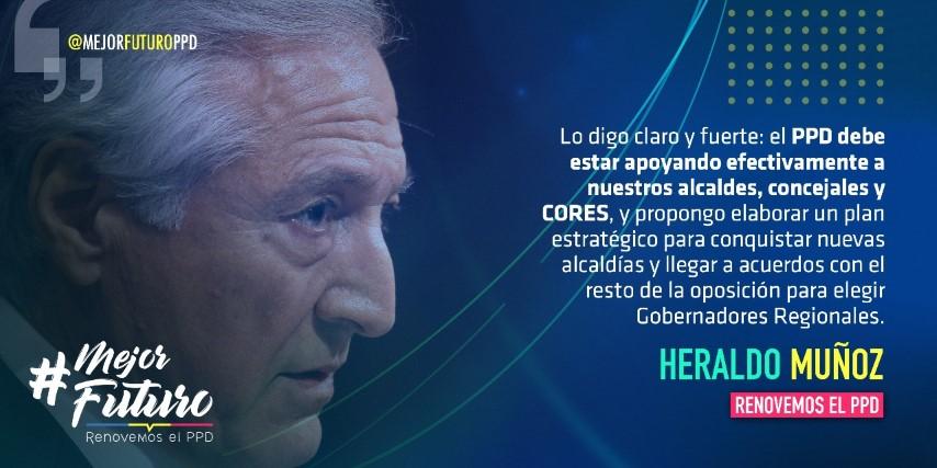 """Heraldo Muñoz en Consejo General del PPD: """"Debemos liderar la denuncia de la desigualdad, la colusión y los abusos"""""""